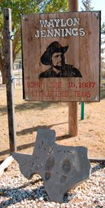 A placard memorializing Waylon Jennings at the RV Park