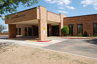 The exterior of the Lamb Healthcare Center