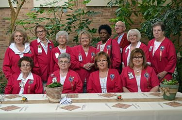 A group photo of members of the Hospital Auxiliary